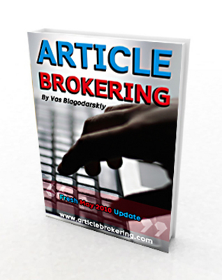 Product picture Article Brokering Full Package With Master Resale Right
